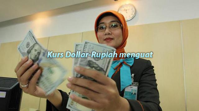 Kurs Dollar-Rupiah menguat