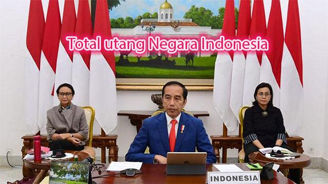 Total utang Negara Indonesia